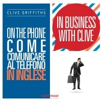 In business with Clive. On the phone