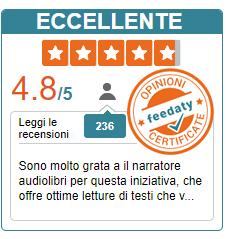 Widget Feedaty la piattaforma che certifica le recensioni de il Narratore