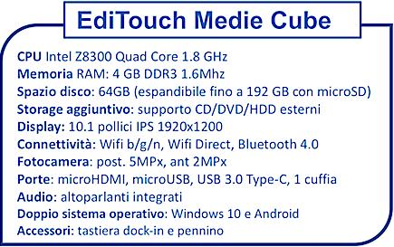 Editouch tablet a scuola - scheda tecnica - Secondaria Cube su ilnarratore.com